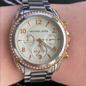 *SALE* Michael Kors Silver/Rose Gold Women's Watch